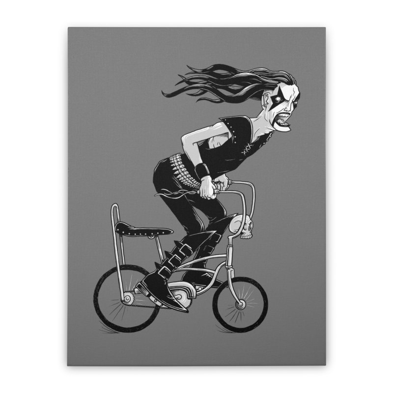 Metal to the Pedal Home Stretched Canvas by joshbillings's Artist Shop