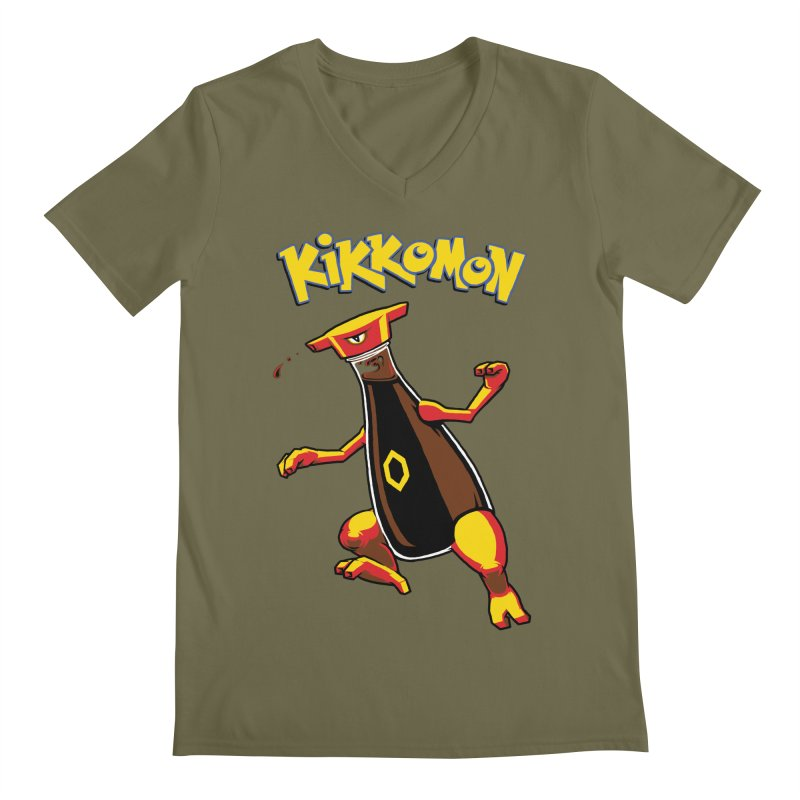 Kikkomon Men's Regular V-Neck by joshbillings's Artist Shop