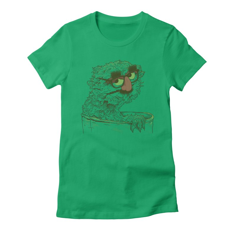 Grouch in Disguise Women's Fitted T-Shirt by joshbillings's Artist Shop