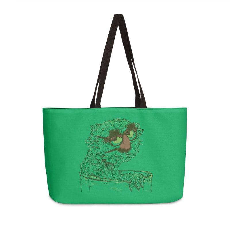 Grouch in Disguise Accessories Weekender Bag Bag by joshbillings's Artist Shop