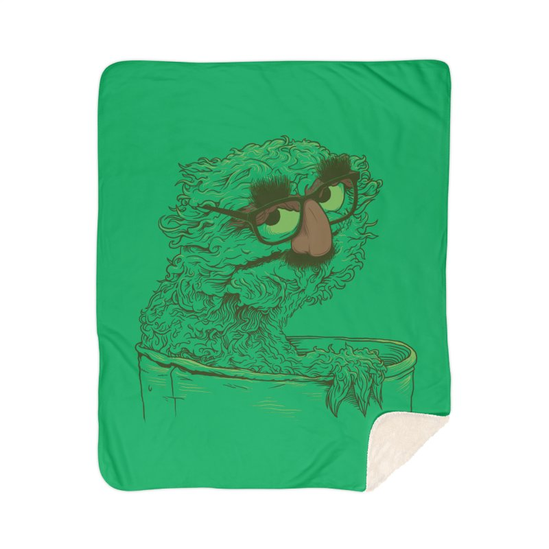 Grouch in Disguise Home Sherpa Blanket Blanket by joshbillings's Artist Shop