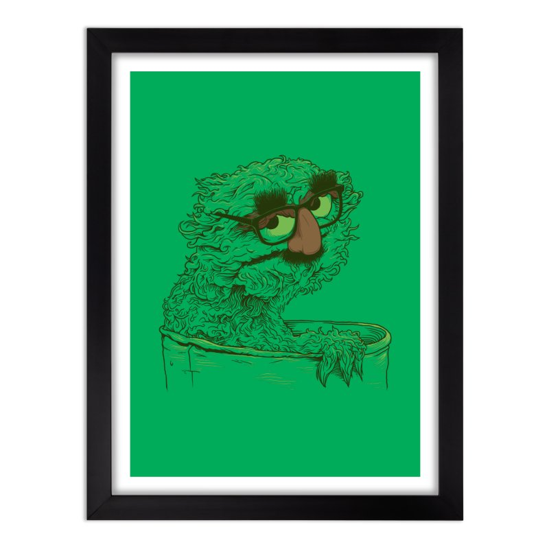 Grouch in Disguise Home Framed Fine Art Print by joshbillings's Artist Shop