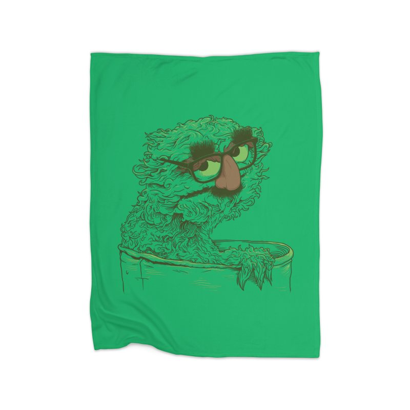 Grouch in Disguise Home Fleece Blanket Blanket by joshbillings's Artist Shop