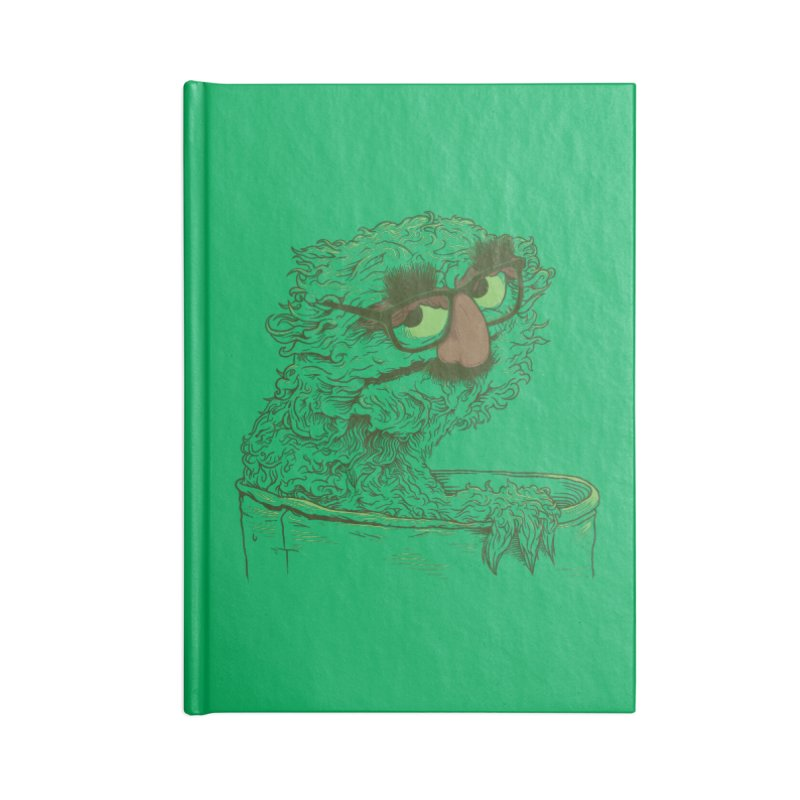 Grouch in Disguise Accessories Lined Journal Notebook by joshbillings's Artist Shop