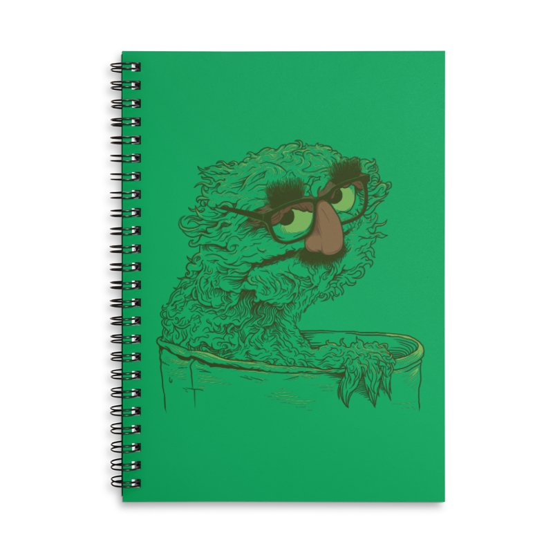 Grouch in Disguise Accessories Lined Spiral Notebook by joshbillings's Artist Shop