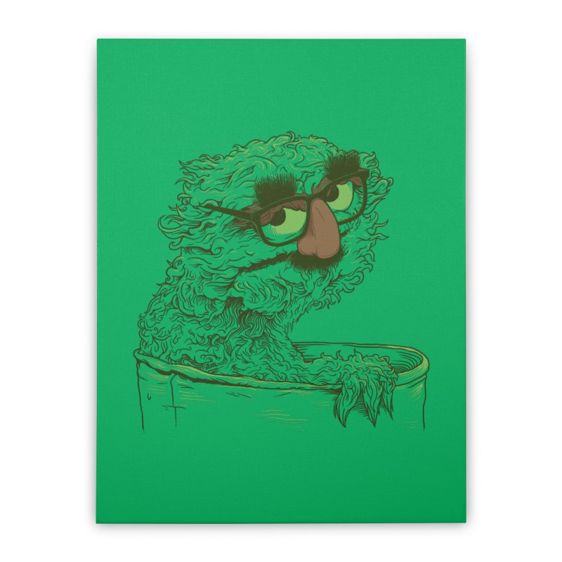 Grouch in Disguise Home Stretched Canvas by joshbillings's Artist Shop