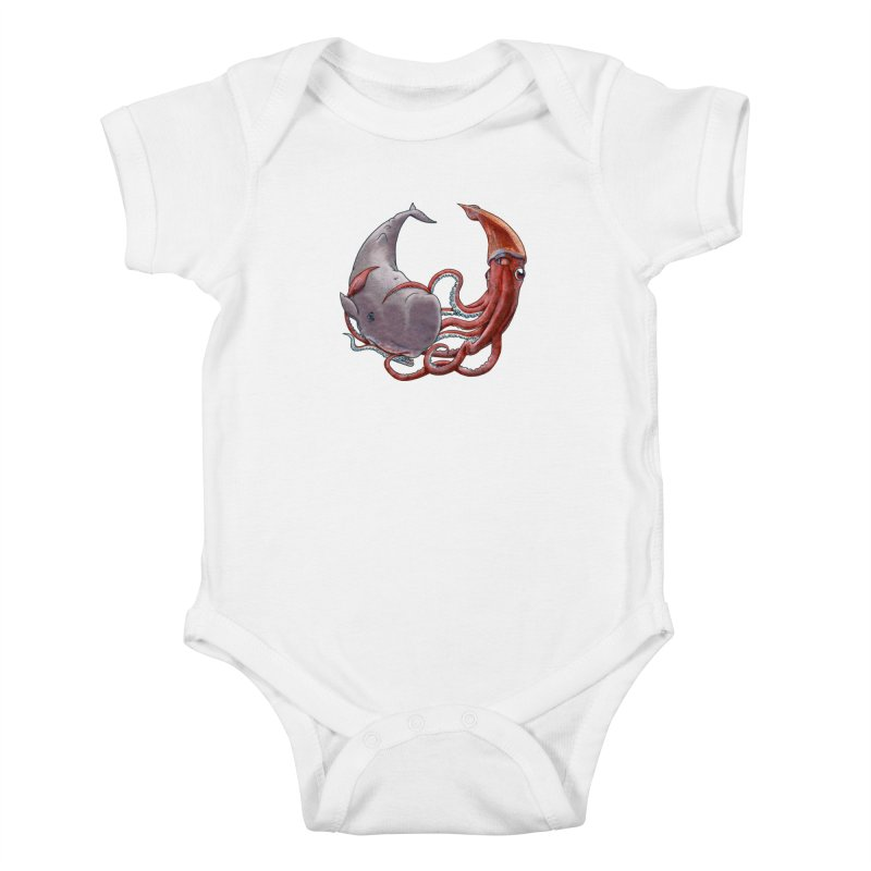 Battle of the Deep Kids Baby Bodysuit by joshbillings's Artist Shop