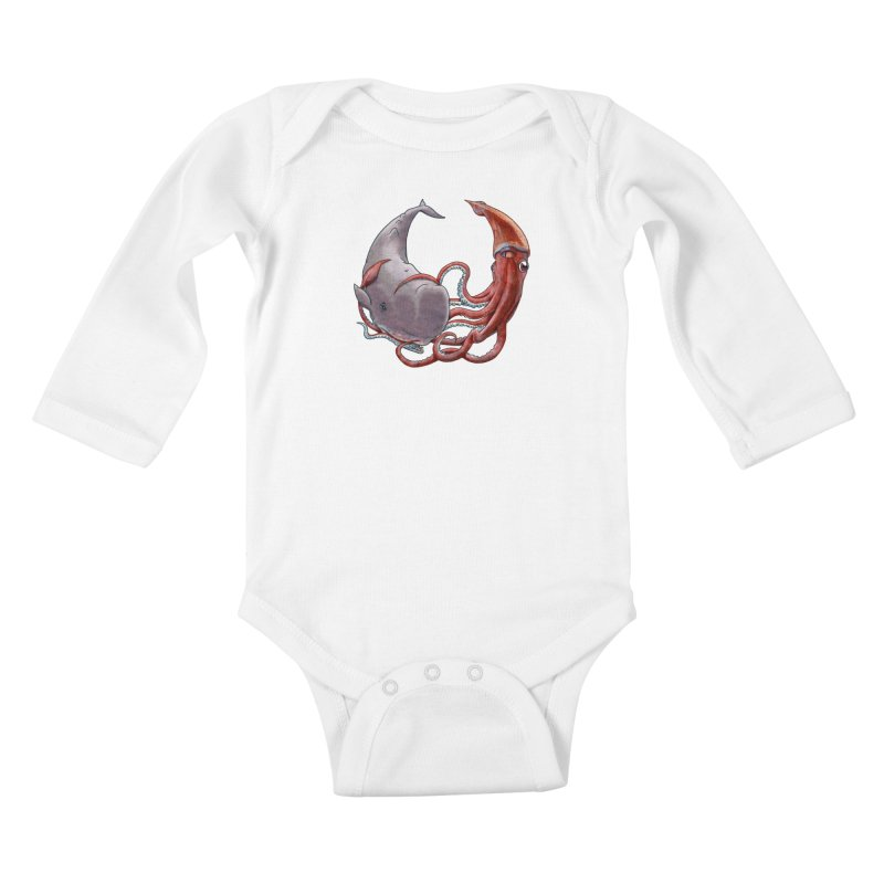 Battle of the Deep Kids Baby Longsleeve Bodysuit by joshbillings's Artist Shop