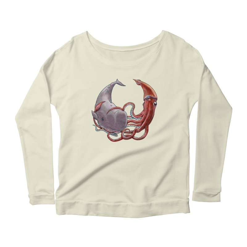 Battle of the Deep Women's Longsleeve Scoopneck  by joshbillings's Artist Shop