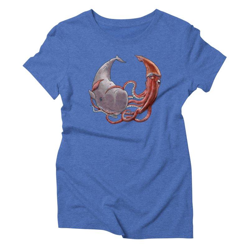 Battle of the Deep Women's Triblend T-Shirt by joshbillings's Artist Shop