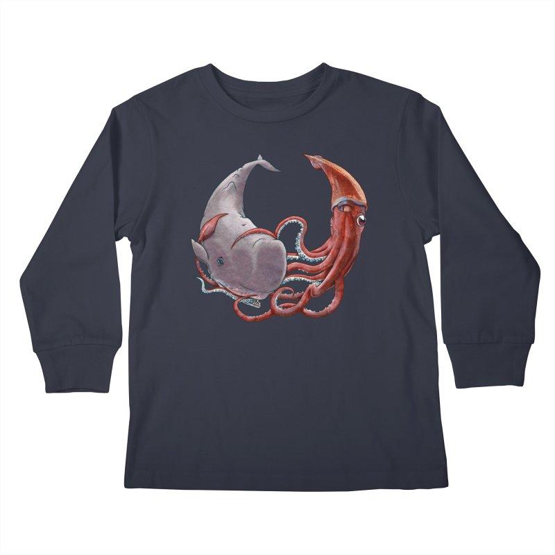 Battle of the Deep Kids Longsleeve T-Shirt by joshbillings's Artist Shop