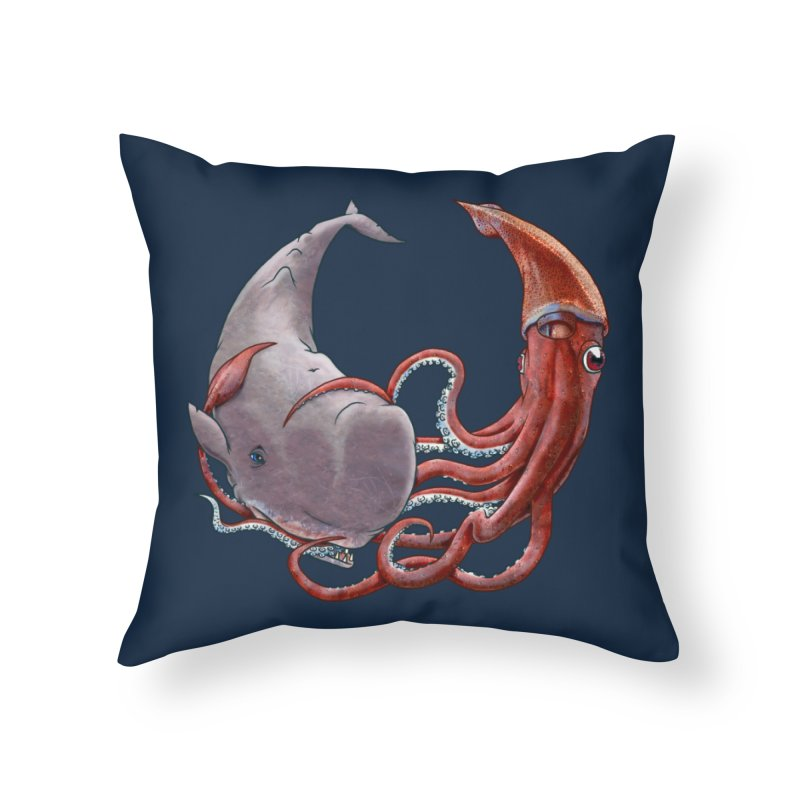 Battle of the Deep Home Throw Pillow by joshbillings's Artist Shop