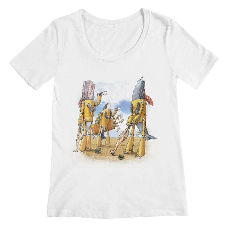 Tea Time Women's Regular Scoop Neck by joshbillings's Artist Shop