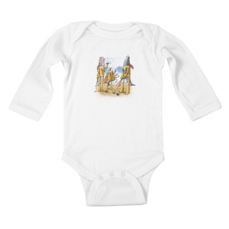 Tea Time Kids Baby Longsleeve Bodysuit by joshbillings's Artist Shop