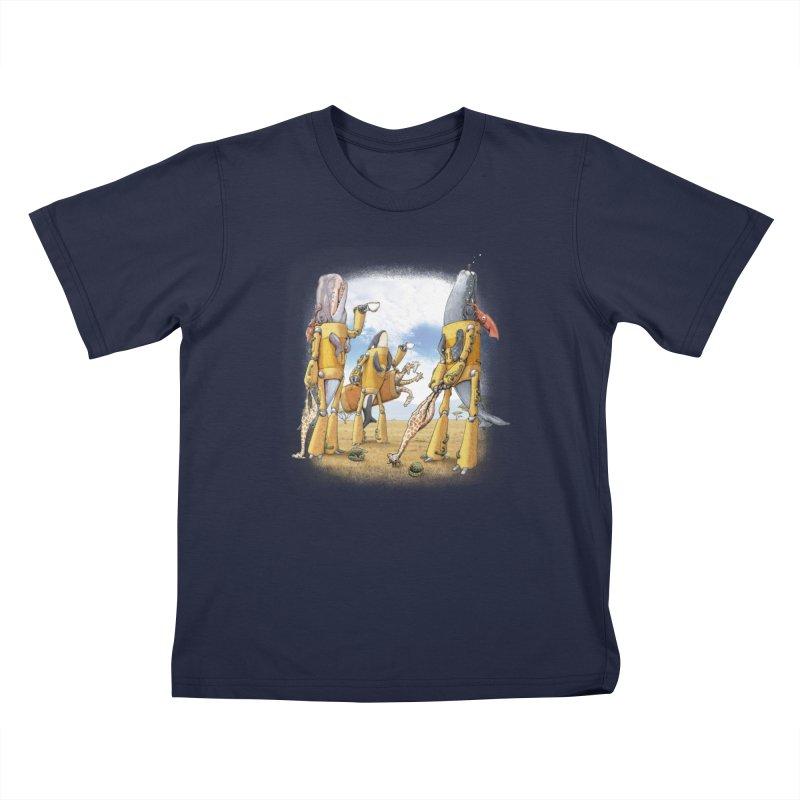 Tea Time Kids T-Shirt by joshbillings's Artist Shop