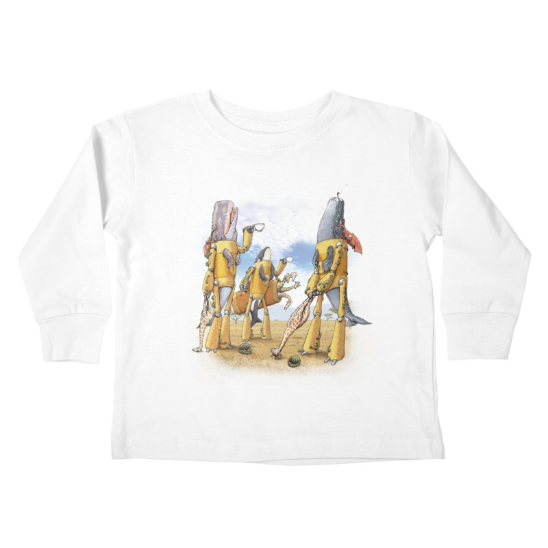 Tea Time Kids Toddler Longsleeve T-Shirt by joshbillings's Artist Shop