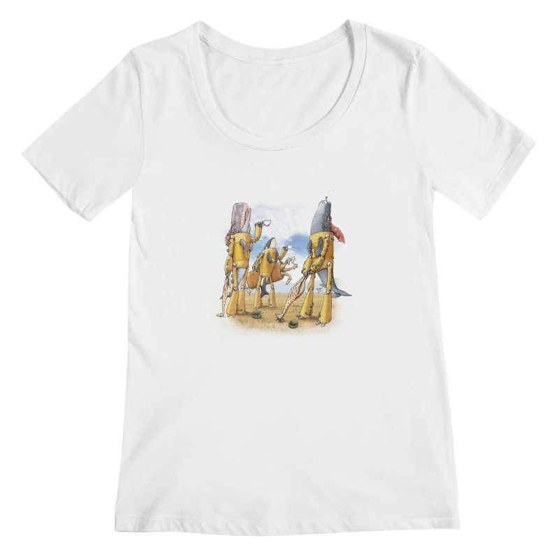Tea Time Women's Scoopneck by joshbillings's Artist Shop