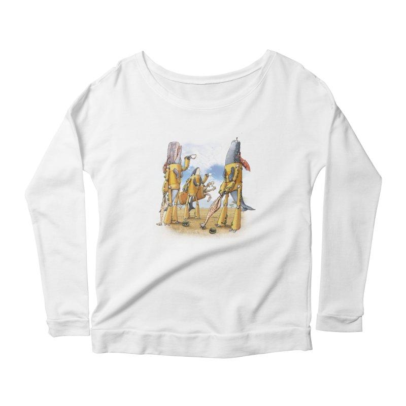 Tea Time Women's Scoop Neck Longsleeve T-Shirt by joshbillings's Artist Shop