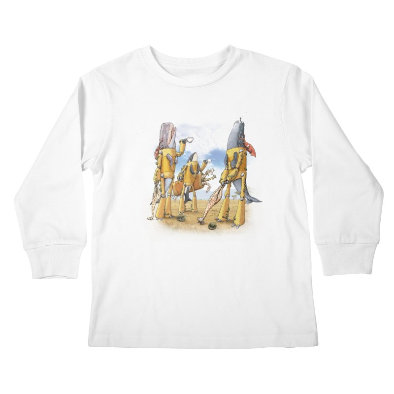 Tea Time Kids Longsleeve T-Shirt by joshbillings's Artist Shop