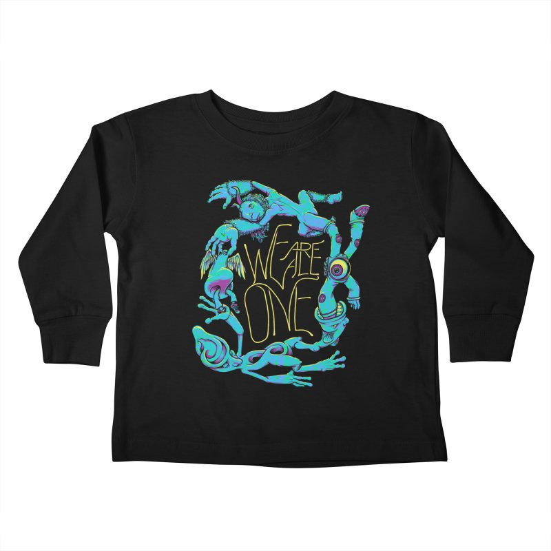 We're All One Kids Toddler Longsleeve T-Shirt by joshbillings's Artist Shop