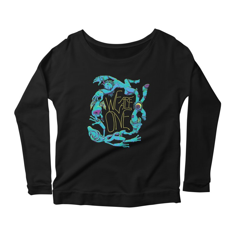 We're All One Women's Longsleeve Scoopneck  by joshbillings's Artist Shop