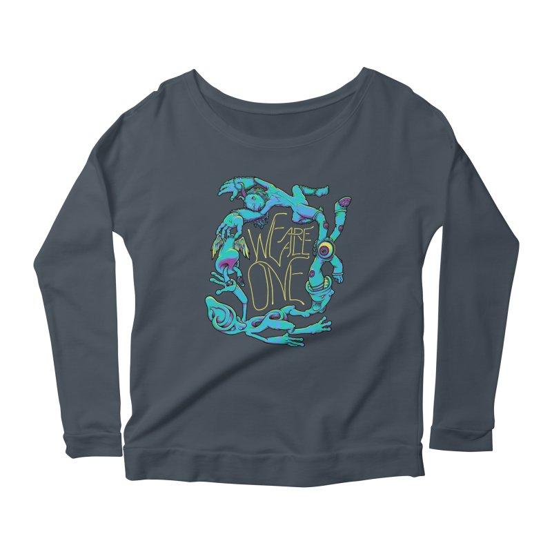 We're All One Women's Scoop Neck Longsleeve T-Shirt by joshbillings's Artist Shop