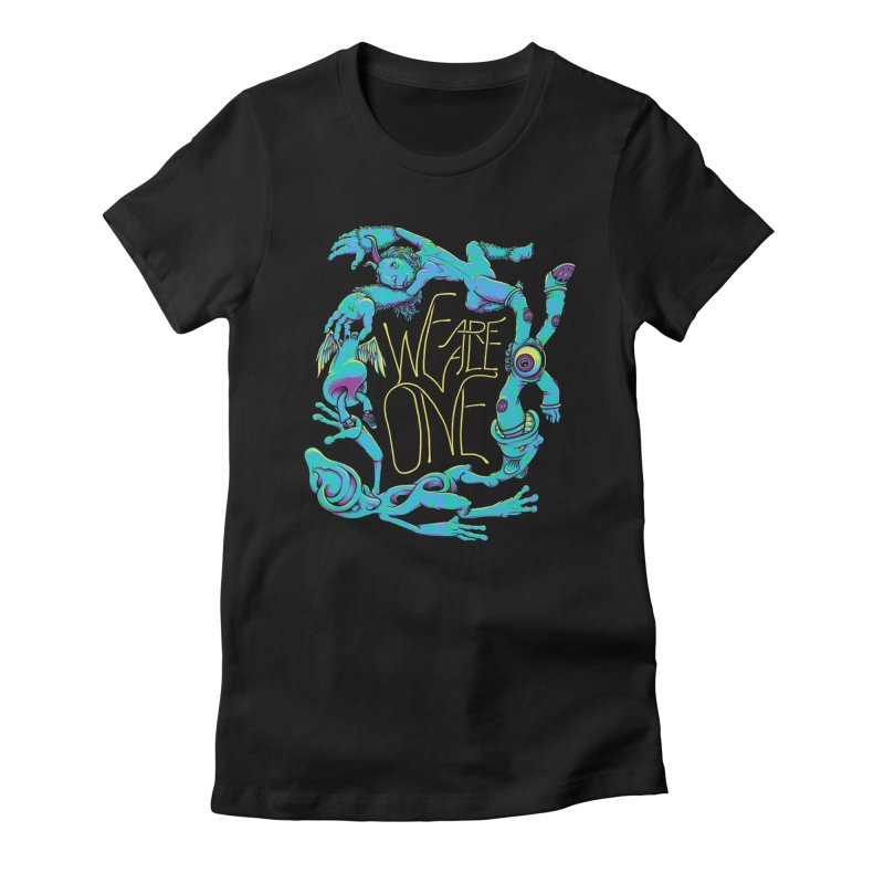 We're All One Women's Fitted T-Shirt by joshbillings's Artist Shop