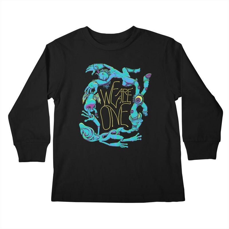 We're All One Kids Longsleeve T-Shirt by joshbillings's Artist Shop