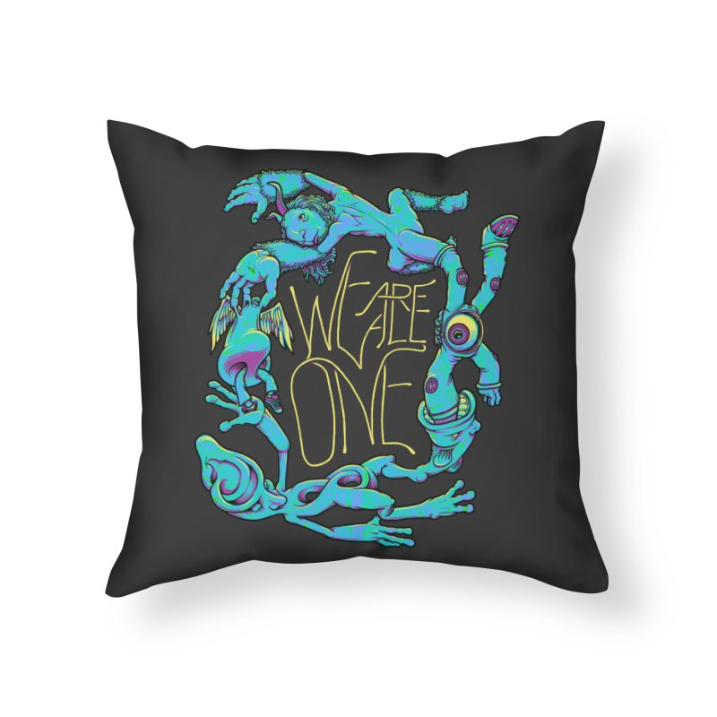 We're All One Home Throw Pillow by joshbillings's Artist Shop