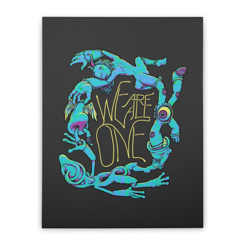 We're All One Home Stretched Canvas by joshbillings's Artist Shop