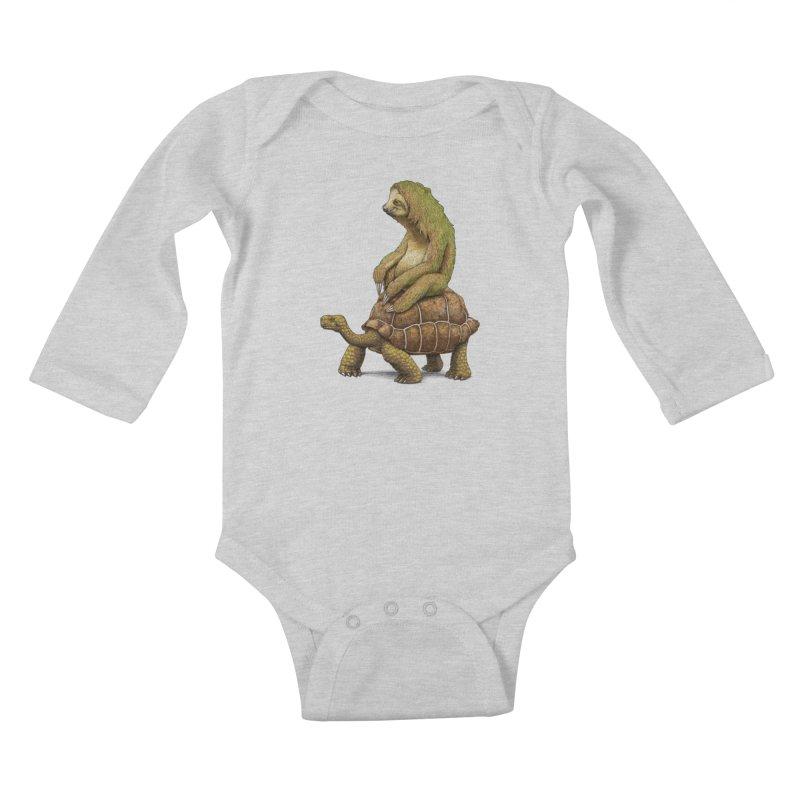 Speed is Relative Kids Baby Longsleeve Bodysuit by joshbillings's Artist Shop