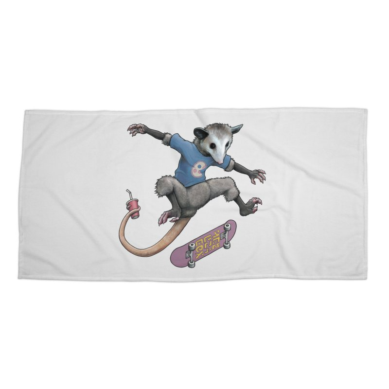 Awesome Possum Accessories Beach Towel by joshbillings's Artist Shop