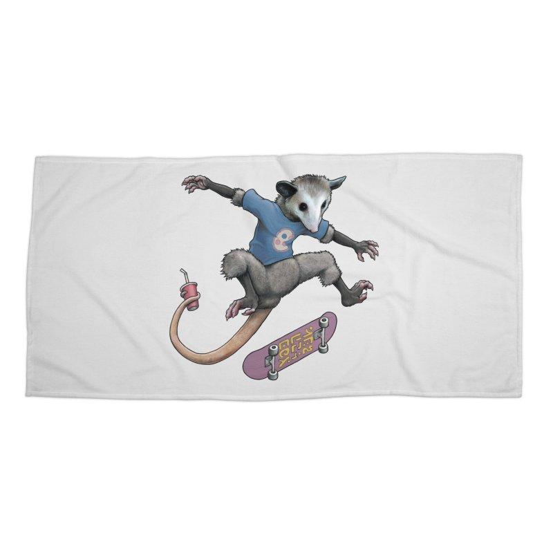 Awesome Possum Accessories Beach Towel by joshbillings's Artist Shop