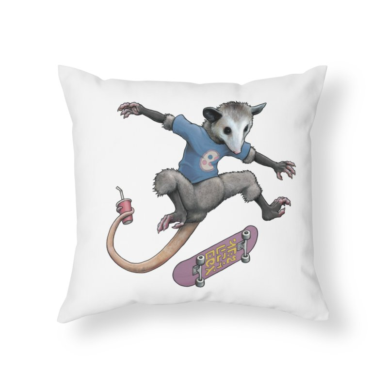 Awesome Possum Home Throw Pillow by joshbillings's Artist Shop