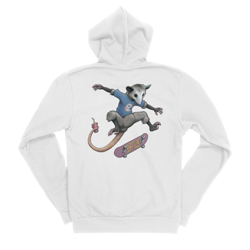 Awesome Possum Women's Sponge Fleece Zip-Up Hoody by joshbillings's Artist Shop
