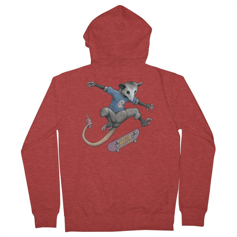 Awesome Possum Women's French Terry Zip-Up Hoody by joshbillings's Artist Shop
