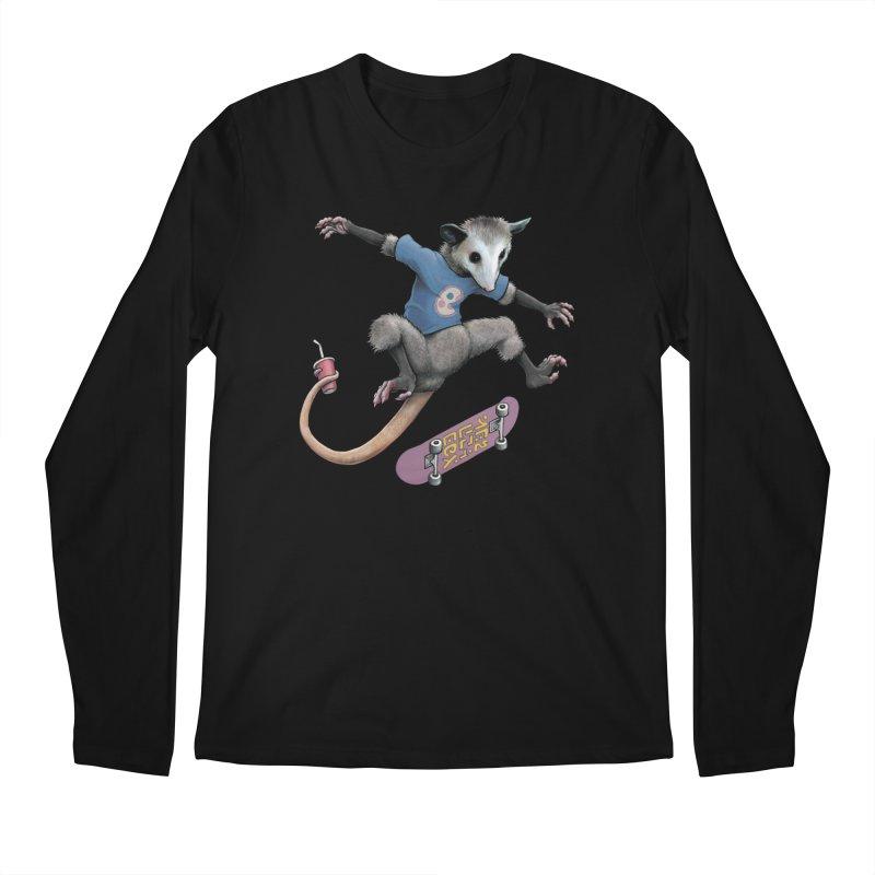 Awesome Possum Men's Regular Longsleeve T-Shirt by joshbillings's Artist Shop