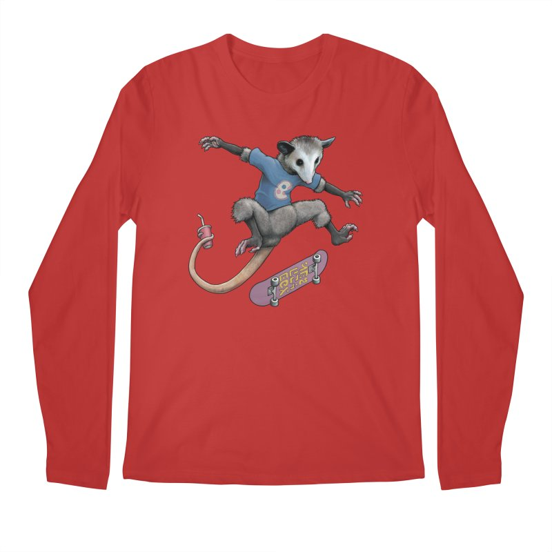 Awesome Possum Men's Regular Longsleeve T-Shirt by joshbillings's Artist Shop