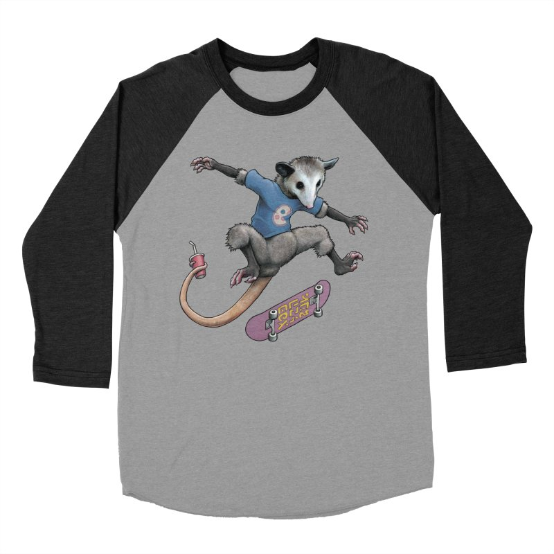 Awesome Possum Women's Baseball Triblend Longsleeve T-Shirt by joshbillings's Artist Shop