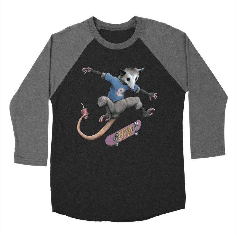 Awesome Possum Men's Baseball Triblend Longsleeve T-Shirt by joshbillings's Artist Shop