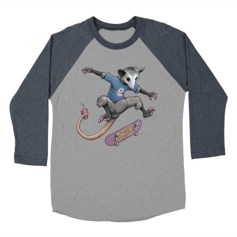 Awesome Possum Men's Baseball Triblend Longsleeve T-Shirt by joshbillings's Artist Shop