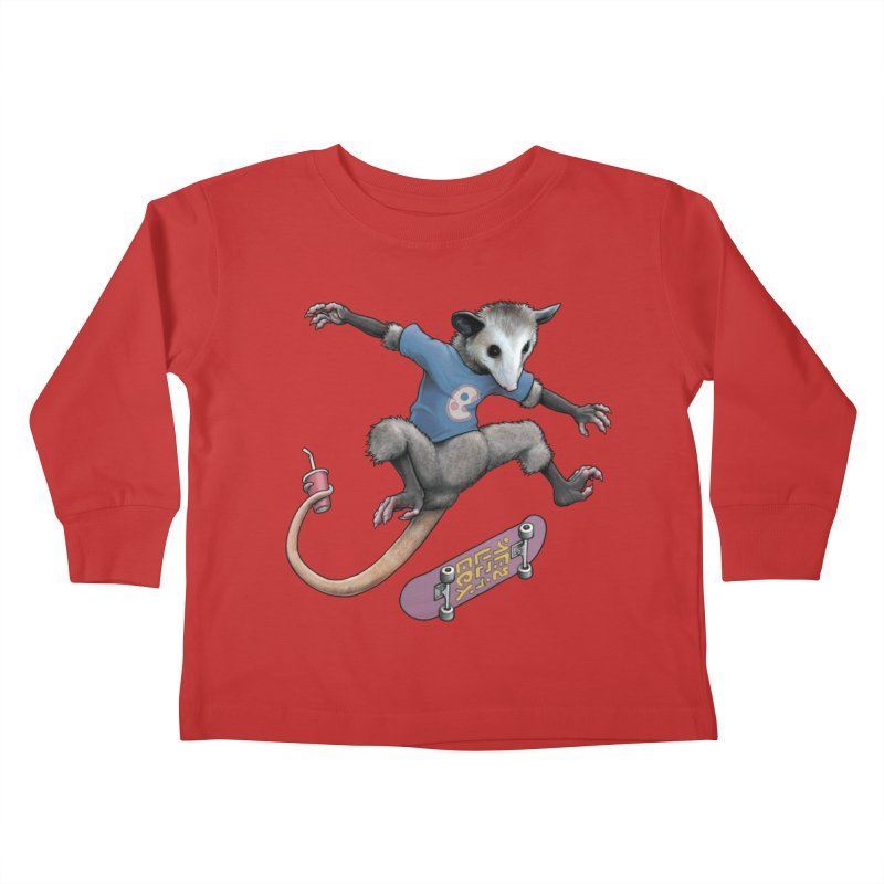 Awesome Possum Kids Toddler Longsleeve T-Shirt by joshbillings's Artist Shop