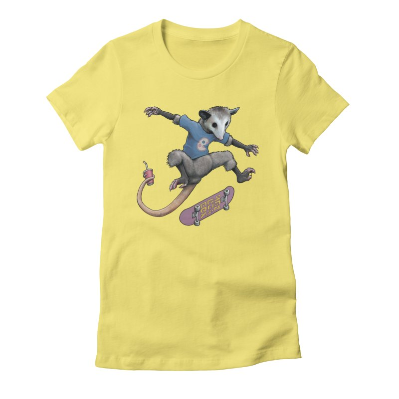 Awesome Possum Women's Fitted T-Shirt by joshbillings's Artist Shop
