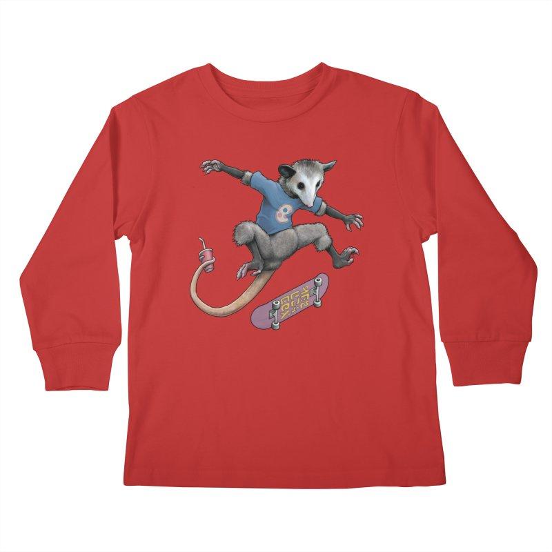 Awesome Possum Kids Longsleeve T-Shirt by joshbillings's Artist Shop