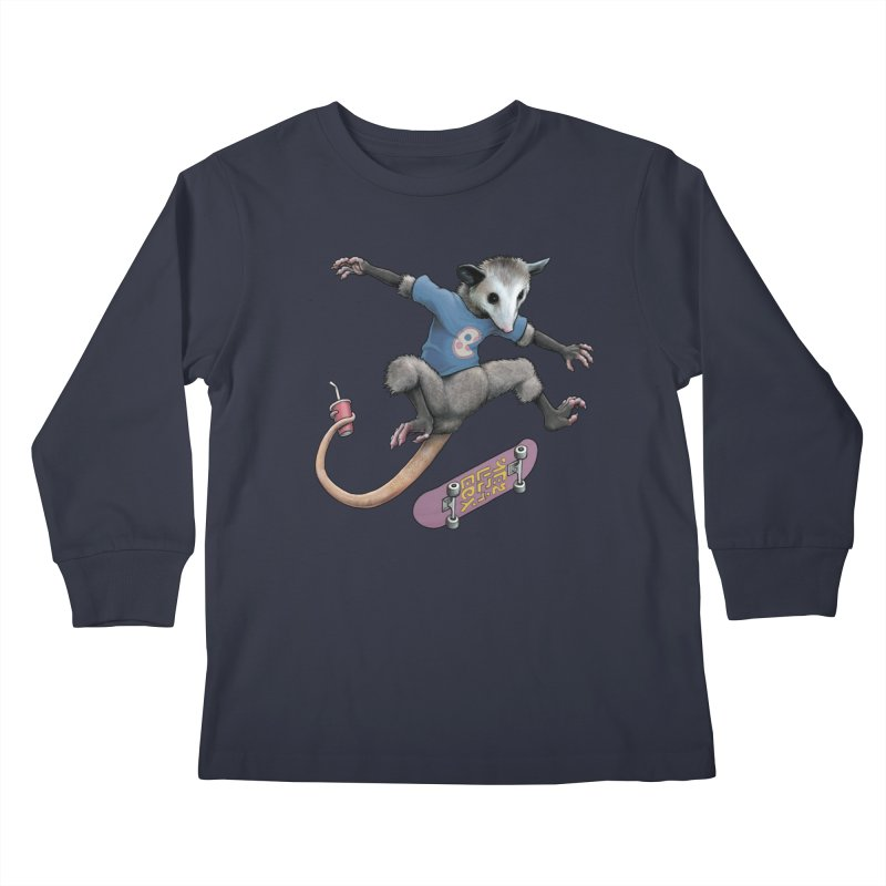 Awesome Possum Kids Longsleeve T-Shirt by joshbillings's Artist Shop
