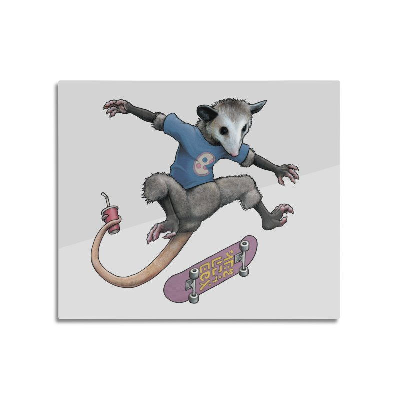 Awesome Possum Home Mounted Aluminum Print by joshbillings's Artist Shop