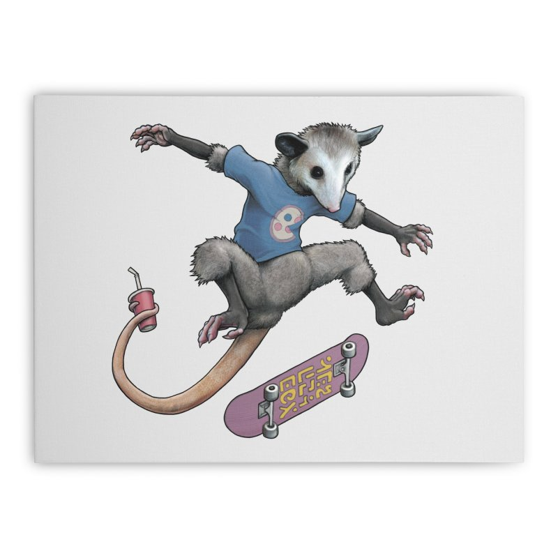 Awesome Possum Home Stretched Canvas by joshbillings's Artist Shop