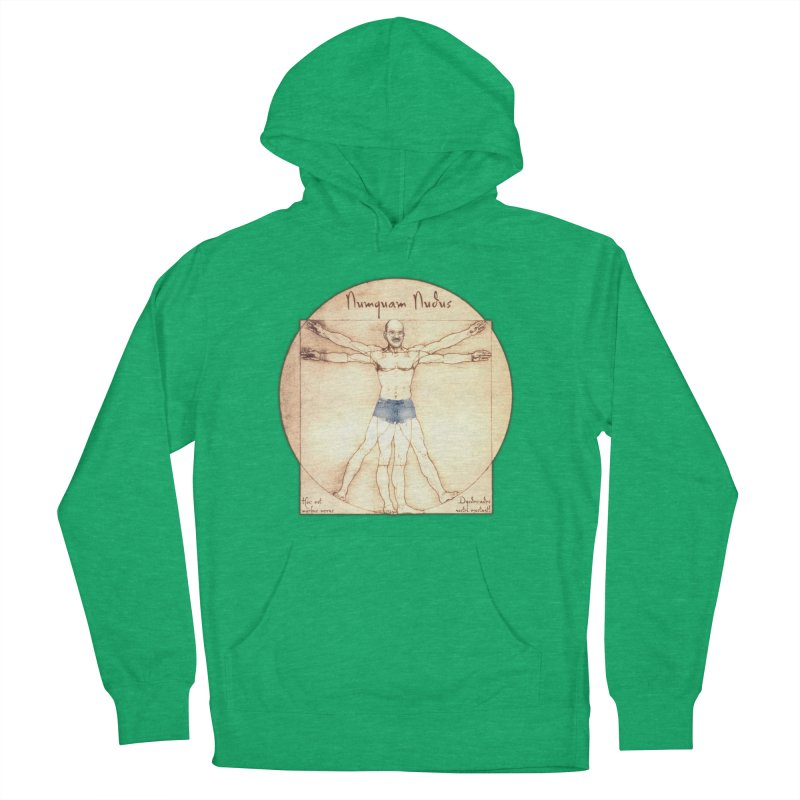 Never Nude Men's Pullover Hoody by Breath of Life Art Studio Shop