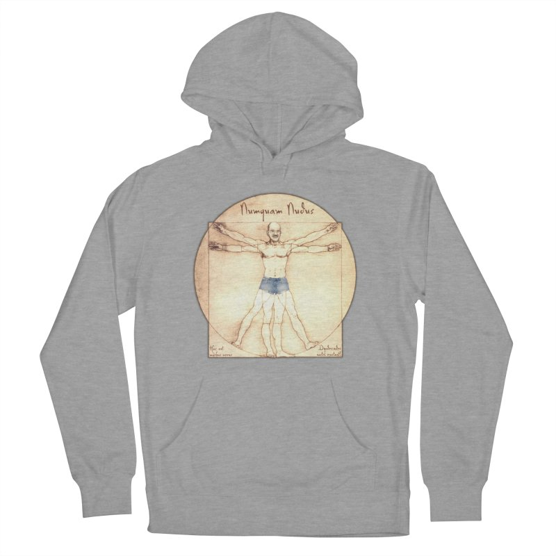 Never Nude Men's French Terry Pullover Hoody by Breath of Life Development Merch Shop