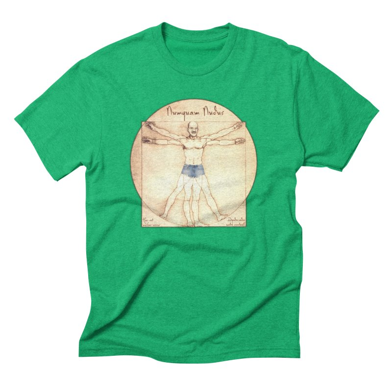 Never Nude Men's Triblend T-Shirt by Breath of Life Art Studio Shop